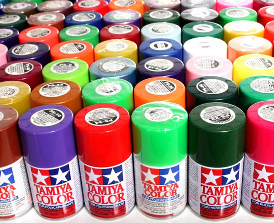 Tamiya Color Spray Paints for Polycarbonate (PS)
